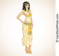 Ein wunderschönes Mädchen, das in Kleopatra gestochen wurde