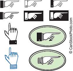 Ein Zeichen des Händezeigens