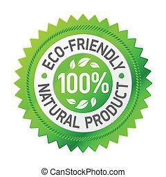 Ein Zeichen für ein umweltfreundliches Produkt