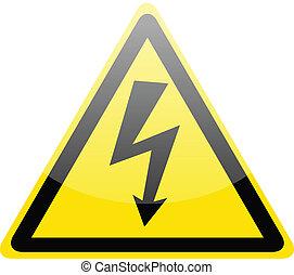 Ein Zeichen von Gefahrenhochspannungssymbol