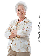 Eine ältere Frau