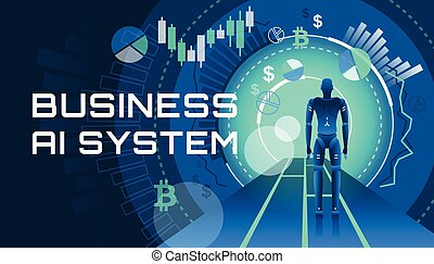 Eine Abbildung eines AI-Geschäftssystems.