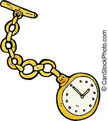 Eine alte Taschenuhr.