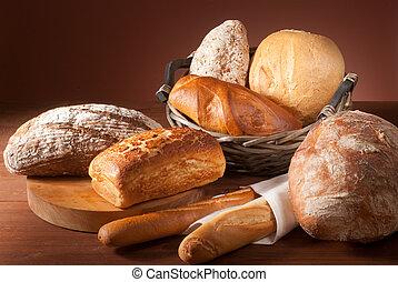 Eine Auswahl an Brot.