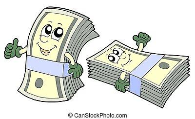 Eine Bank mit süßen Banknoten