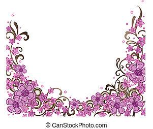 Eine dekorative rosa Flanke