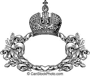 Eine Farbe retro elegant königliche Krone Kurven.