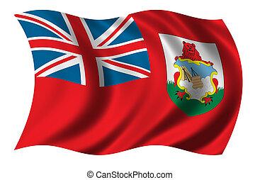 Eine Flagge von Bermuda