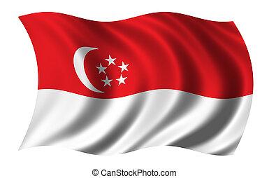 Eine Flagge von Singapore