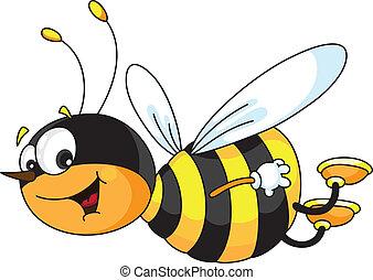 Eine fröhliche Biene
