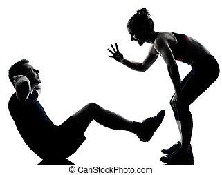 Eine Frau, die trainiert