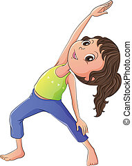 Eine Frau, die Yoga macht