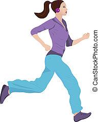 Eine Frau joggt