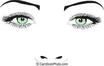Eine Frau mit Blick auf Vektor Illustration