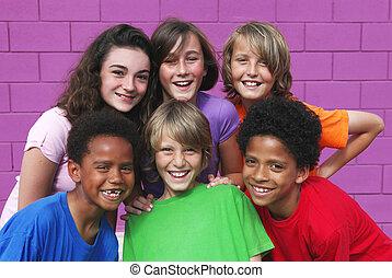 Eine gemischte Rassengruppe