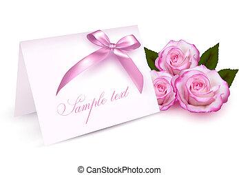 Eine Greeting-Karte mit Rosen