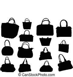 Eine große Sammlung von Handtaschen - Vektor