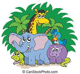Eine Gruppe afrikanischer Tiere