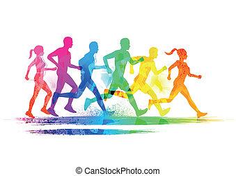 Eine Gruppe Läufer