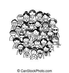 Eine Gruppe von Leuten für Ihr Design