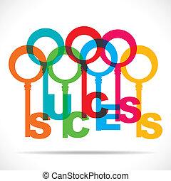 Eine Gruppe von Schlüsseln macht Erfolg