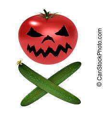 Eine Infizierte von Gemüse