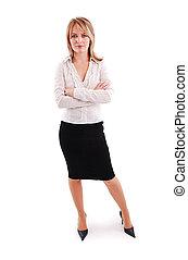 Eine junge Geschäftsfrau