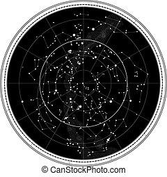 Eine Karte des Nachthimmels