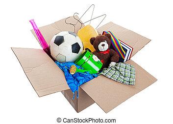Eine Kiste voller Müll