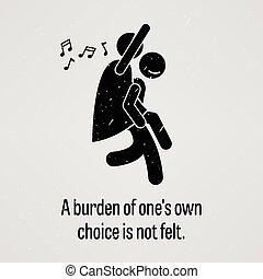 Eine Last einer eigenen Wahl ist nicht F.