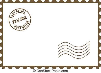 Eine leere Postkarte.
