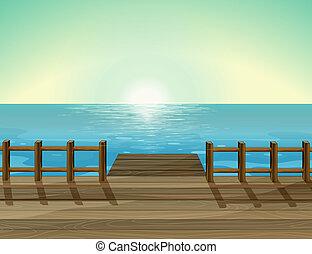 Eine Meereslandschaft.