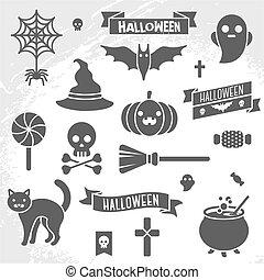 Eine Menge Halloween-Bands und Figuren.