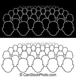 Eine Menge Leute.