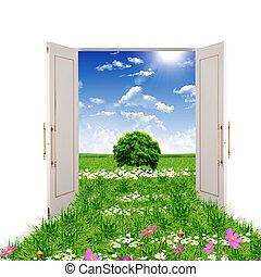 Eine offene Tür zum Sommer