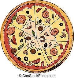 Eine Pizza-Ikone