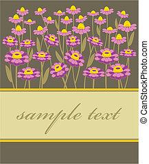 Eine Postkarte mit Fliederblume