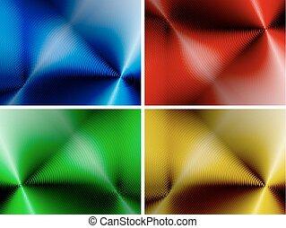 Eine Reihe abstrakter, mehrfarbiger Hintergründe.