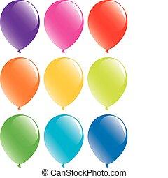 Eine Reihe bunter Ballons
