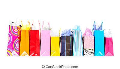 Eine Reihe Einkaufstüten