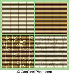Eine Reihe nahtloser Bambusmuster.