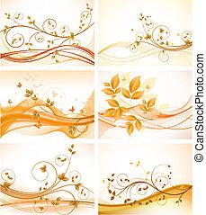 Eine Reihe von abstrakten Blüten