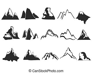 Eine Reihe von Berg-Ikonen