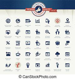 Eine Reihe von Business Icons.