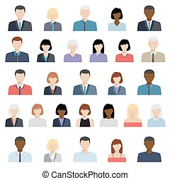 Eine Reihe von Business People Icons.