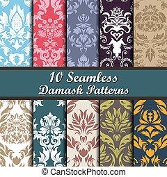 Eine Reihe von Damask-Schnittstellen.