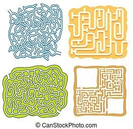 Eine Reihe von Labyrinth-Puzzle-Vorlage.