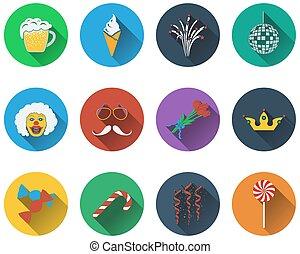 Eine Reihe von Symbolen.
