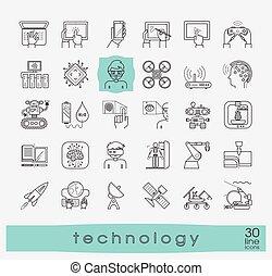 Eine Reihe von Technologie-Icons.
