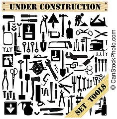 Eine Reihe von Werkzeugen